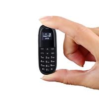 супер маленький сотовый телефон оптовых-Супер мини мобильный телефон UNIWA KK1 0.66 дюймов Bluetooth дозвона ультра тонкий небольшой сотовый телефон ПК BM70 BM50