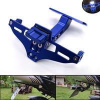 soportes yamaha al por mayor-Soporte de placa de matrícula Soporte Placa de matrícula Placa de matrícula para YAMAHA R1 2004 2005 2006 KAWASAKI Z1000 Z800 Z750