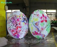Wholesale roly poly resale online - Custom Printing Inflatable Roly poly Lighting Balloon Inflatable Tumbler with Light