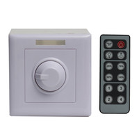 Wholesale remote control light dimmer - 12-24V-8A IR 12Keys Remote PWM LED Light Dimmer Switch Brightness Control For 3528 5050 2835 LED Strip