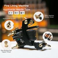 Tattoo Machine Fine Lining Gun 10 Wraps Coils Alloy Frame Liner Tattoo Gun Pure Copper Coils WQ4146