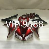 Wholesale yamaha r1 custom fairings - Custom Motorcycle Fairing kit for YAMAHA YZFR1 04 05 06 YZF R1 YZF1000 2004 2005 2006 Red black Fairings set+gifts YB1