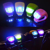 Wholesale Silicone Cycling Lights Bicycle Warning Lights Lamp Bike Head Front Rear Wheel LED Flash Bicycle Light Lamp Drop Shipping