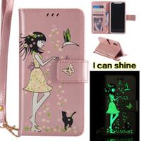 Wholesale case flip girl for sale – best Luminous Wallet Case For iPhone s s Plus X s SE Plus sPlus Plus Plus Luxury Leather Soft Girl Flip Cover