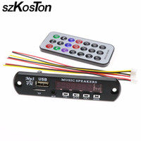 Wholesale slot module - szKosTon Remote Music Speaker USB MP3 Decoder w TF card slot Decoding Board Audio Module TF Radio For Car