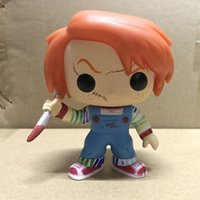 Wholesale action plays - Action Figure Doll Funko POP Flawed Horror Movies Child Play 2 Clown Chucky Modle Cratoon Home Kid Toy Ornament 35bx YY
