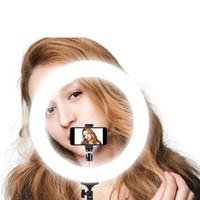 estudios de trípode al por mayor-Cámara Photo Studio Phone Video 55W 240PCS Anillo de luz LED 5500K Fotografía Lámpara de anillo de maquillaje regulable con trípode de 200 CM
