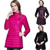 Wholesale yellow duck clothing for sale - New Style Ultralight Down Coat Medium Length Woman Designer Clothes White Duck Down Winter Jacket Women Color Size S XL