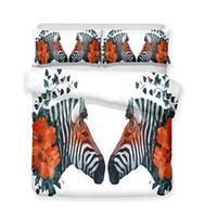Wholesale zebra bedding online - 3D Zebra Flowers Children s Adult Bedding Set All Size