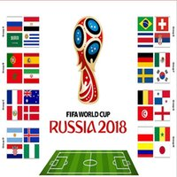 Wholesale souvenir world cup soccer resale online - Handheld Flags Souvenir Soccer World Cup Countries Small Hand Waving National Team Flag cm Football Banner Fans Gift