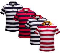 ingrosso polo uomo a maniche lunghe-17 18 Poloshirt Solid Polo Shirt Men Luxury Polo da uomo a maniche lunghe Basic Top Cotton Polos For Boys Designer di marca Polo Homme