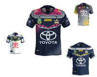Wholesale black cowboys jerseys - 2018 NRL JERSEYS QUEENSLAND COWBOYS Top Quality North Queensland Cowboys 2017-2018 Rugby Jersey Short Sleeve Men Shirts Size S-3XL