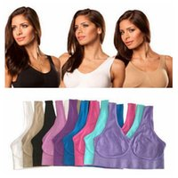 Wholesale size 38a bras - Top Quality Sexy Underwear Seamless Ladies ahh Bra Sizes Sport Yoga Bra Microfiber Pullover Bra Body Shape 9 colors 6 size 1000pcs