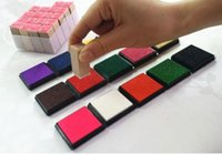 Wholesale inking pad resale online - New School Variety of optional cm Ink Pad Scrapbooking Colorful Inkpad Stamp Sealing Decoration Fingerprint Stencil Card Making DIY Crafts