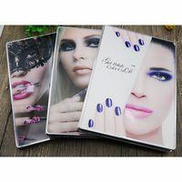 renk ucu akrilik çivi toptan satış-Nail Art Book Akrilik Tırnak Jel Lehçe Ekran Kartı Renk Kurulu Salon Tam Nail İpuçları Ile Manikür Araçları