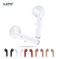 Wholesale Mini Usb Phone - I7 TWS Twins Bluetooth Earbuds Mini Wireless Earphones Headset with Mic Stereo V4.2 Headphone for Iphone Android with Package