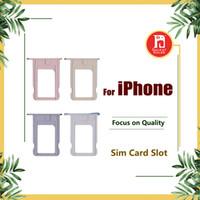 Wholesale parts trays - For iPhone 5 5s 5c 5SE 6 6plus 6S 6s Plus 7 7 PLUS SIM Card Tray Holder Slot Replacement Spare Repair Parts