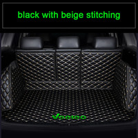 Veeleo 9 Colors Custom-Made Car Trunk Mats for All Car Artificial Leather Rear Boot Mat