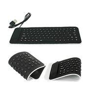 tecla mx al por mayor-CEL Portable USB Mini Silicone Flexible PC Teclado plegable para portátil Notebook Black NOV30