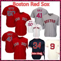 Wholesale pedroia jersey - Red Sox Baseball Jerseys Men 50 Mookie Betts 41 Chris Sale 9 Ted Williams 15 Dustin Pedroia Baseball Jerseys Free Shipping M-XXXL