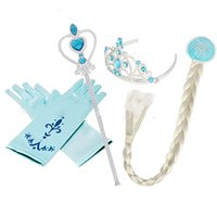 6cae2b1480ee Wholesale costume crown wholesale for sale - 2018 cosplay Headwear set Crown  Wig Wand Gloves Party