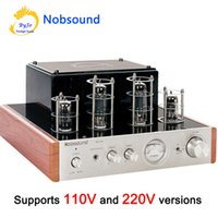 Wholesale Headphones Tube - Nobsound MS-10D Tube Amplifier Hifi Stereo Audio Power Amplifier 25W*2 Vaccum Tube AMP and Headphone support 110V or 220V