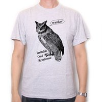 Wholesale free comedy - Irritable Owl Syndrome T Shirt - An Old Skool Comedy T-Shirt Free UK Postage !