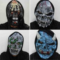 киномаски для продажи оптовых-New Terrorist Face Costume Cosplay Movie Adult Party Masquerade Rubber Latex Masks for Halloween Grasping Ghost Mask Hot Sale