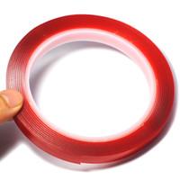 cinta adhesiva doble de 3 m al por mayor-1 CM Ancho 3 M Longitud Etiqueta autoadhesiva de doble cara de espuma Cinta adhesiva auto pegamento autoadhesivo multifuncional Accesorios de coche estilo de coche
