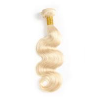 ingrosso ordinare tessere brasiliane-Fasci del tessuto dei capelli umani brasiliani biondi dell'onda del corpo 613 La quantità di ordine minimo è di 1 pezzo può usare FedEx per spedire