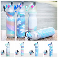 Wholesale gym water bottles for sale - Group buy 590ML Water Bottle Sport Spray Bottle Moisturizing Bicycle Cycling Sports Gym Sip Squeeze Cooling Drinking Bottles OOA5278