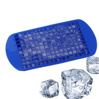 Wholesale square silicone tray for sale - 160 Grids Silicone Ice Cubes colors Eco Friendly silicone square ice maker Tray kitchen bar tools