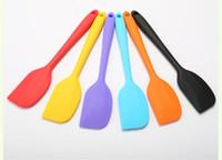 fırın fırçası toptan satış-Mutfak Silikon Krem Tereyağı Kek Spatula Karıştırma Meyilli Kazıyıcı Fırça Tereyağı Mikser Kek Fırçalar Pişirme Aracı Mutfak