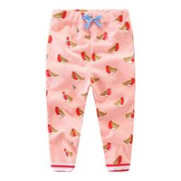 Wholesale flower harem online - Full Trousers Baby Girls Pants Children Clothes Winter Fall Kids Printed Flowers Fashion Girl Long Sport Pant