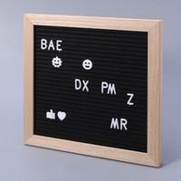 ingrosso lettere numeri di simboli-Felt Message Board Decor Bordo cornice lettere bianche simboli numero caratteri sacchetto