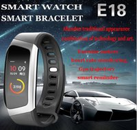Wholesale E18 dynamic heart rate monitoring sleep movement step step Bluetooth wear reminder smart bracelet phone information reminder