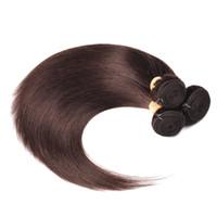 ingrosso prezzi dei capelli cinesi-Capelli brasiliani 3 Bundles Color Jet Black 1 2 4 Bundles capelli lisci marrone scuro 99J Raw Virgin brasiliana Estensioni dei capelli umani