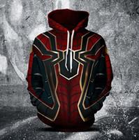 filme de televisão venda por atacado-Vingadores 3 filme e televisão hoodies Spider-Man e pantera Negra impressão digital camisola do hoodie 2 estilos frete grátis