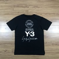 Wholesale cotton drill shirt - 2018 New Y3 behind autograph logo fashion summer men and women hot drilling Behind the skull T-shirt cotton tshirt short casual t-shirt