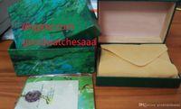 dateikästen großhandel-Heiße hochwertige Uhrenbox Papiere Karteikarte Grüne Geschenkboxen 116610 116660 326934 116520 116710 116613 116500 118239 228239 178273 Uhren