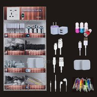 Wholesale Led Mobile Phone Accessories - LED lights acrylic display box mobile phone portable accessories use for iphone samsung smartphones with usb charger & cable earphone