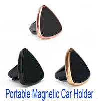 держатель сотового телефона с воздушным вентилятором оптовых-Магнитный держатель автомобиля вентиляционное отверстие Универсальный автомобильный держатель сотового телефона для iPhone 6 / 6s One Step Mounting усиленный Магнит