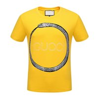 Wholesale Bell End - free shipping wholesale summer new high-end men's GUC brand t-shirt fashion short sleeve snake printing fashion t shirt Men's Tops Tees