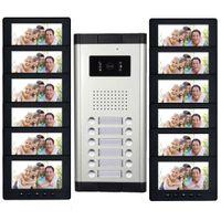 "Wholesale apartment door intercom - 12 Units 7"" Monitor Apartment intercom system Video Door Phone Intercom HD Camera video Doorbell for 12 Household"