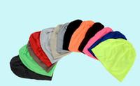 hop şekerleme toptan satış-15 renkler Unisex moda şeker renk kapaklar erkekler kadınlar şapkalar erkekler örgü şapka hip hop bere pamuk sevimli baskılı kap