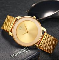 relógios impermeável feminina venda por atacado-Top Marca Áustria Mulheres De Cristal Homens Relógios De Luxo Senhoras Relógio De Ouro 2018 Nova À Prova De Choque À Prova D 'Água Relógio De Mulheres Pequenas Para O Relógio Feminino