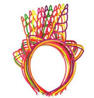 ingrosso fasce di plastica per i bambini-Promozione Kawaii Plastica Unicorno Bastoncini per capelli Colori misti Boutique Fasce per ragazze Festa di compleanno Accessori per capelli per bambini 12 pezzi / lotto