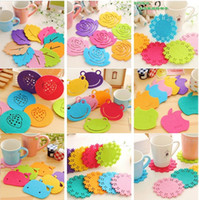 Wholesale meal pad - New Creative home coasters fresh candy coloured cup mats, meal pads, antiskid insulation mats I145
