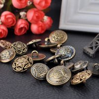 Wholesale bronze clothing accessories for sale - Group buy Meetee Antique Bronze Tone Round resin Buttons for coat DIY Sewing Scrapbooking Crafts Clothing Decoration Women Sweater Accessories