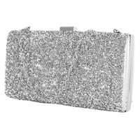 золотые клатчы оптовых-Women Evening Bag  Black/Silver Wedding Party Bag Diamond Rhinestone Clutches Crystal Bling Gold Clutch Purses